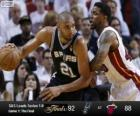 Finales NBA 2013, 1er Partido, San Antonio Spurs 92 - Miami Heat 88
