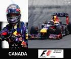Sebastian Vettel celebra su victoria en el Gran Premio de Canadá 2013