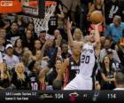 Finales NBA 2013, 5º Partido, Miami Heat 104 - San Antonio Spurs 114
