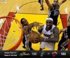 Finales NBA 2013, 6º Partido, San Antonio Spurs 100 - Miami Heat 103