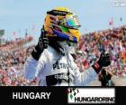 Lewis Hamilton celebra su victoria en el Gran Premio de Hungría 2013