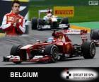 Fernando Alonso - Ferrari - Gran Premio de Belgica 2013, 2º Clasificado