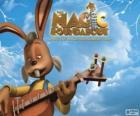 Dylan, el conejo que toca la guitarra