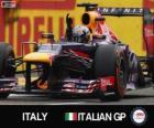 Sebastian Vettel celebra su victoria en el Gran Premio de Italia 2013