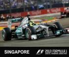 Nico Rosberg - Mercedes - Singapore, 2013