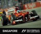 Fernando Alonso - Ferrari - Gran Premio de Singapur 2013, 2º Clasificado