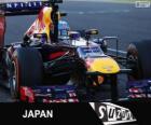 Sebastian Vettel celebra su victoria en el Gran Premio de Japón 2013