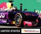 Sebastian Vettel celebra su victoria en el Gran Premio de Estados Unidos 2013