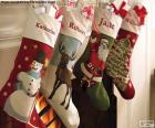 Calcetines navideños decorados