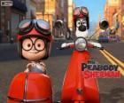 Sr. Peabody y Sherman en la motocicleta con sidecar