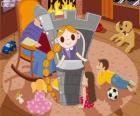 Rapunzel. La princesa de pelo largo en la torre