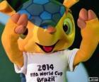 Fuleco, la mascota oficial del Mundial de Futbol 2014 de Brasil es un armadillo