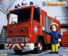 Sam junto a Jupiter el camión de bomberos
