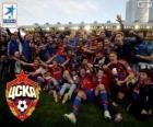 CSKA Moscú, campeón de la Liga Premier 2013-2014, la liga rusa de fútbol