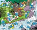 Los Pitufos en el rio