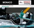 Nico Rosberg celebra su victoria en el Gran Premio de Mónaco 2014
