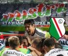 Legia de Varsovia, campeón de la liga polaca de fútbol Ekstraklasa 2013-2014