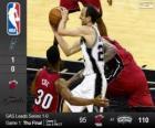 2014 NBA Finales, 1er Partido,  Miami Heat 95 - San Antonio Spurs 110