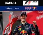 Daniel Ricciardo celebra su victoria en el Gran Premio de Canadá 2014
