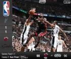 2014 NBA Finales, 2º Partido,  Miami Heat 98 - San Antonio Spurs 96