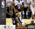 2014 NBA Finales, 5º Partido,  Miami Heat 87 - San Antonio Spurs 104