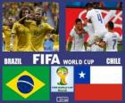 Brasil - Chile, octavos de final, Brasil 2014
