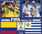 Colombia - Uruguay, octavos de final, Brasil 2014