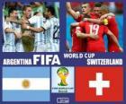 Argentina - Suiza, octavos de final, Brasil 2014