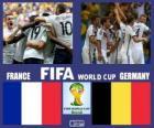 Francia - Alemania, cuartos de final, Brasil 2014