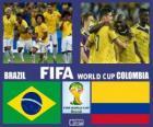 Brasil - Colombia, cuartos de final, Brasil 2014