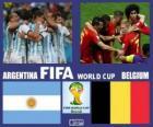 Argentina - Belgica, cuartos de final, Brasil 2014