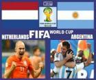 Países Bajos - Argentina , semifinales, Brasil 2014