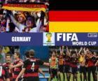 Alemania celebra su clasificación, Brasil 2014