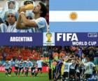 Argentina celebra su clasificación, Brasil 2014