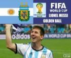 Lionel Messi, balón de Oro. Mundial de Fútbol Brasil 2014