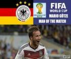 Mario Götze, mejor jugador de la final. Mundial de Fútbol Brasil 2014