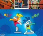Ole y Hop, mascotas del Campeonato Mundial de Baloncesto de 2014
