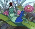 El saltamontes Flip con su sombrero de copa