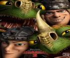 Los hermanos gemelos Chusco y Brusca Thorston con sus dragones