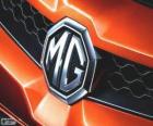 Logo de MG, marca del Reino Unido