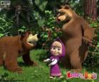 Masha con los dos osos