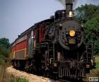 Locomotora de un tren de vapor