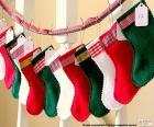 Calcetines de Navidad de varios colores