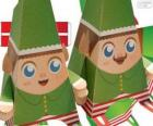 Duendes de Navidad de papel