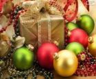 Regalo de Navidad decorado