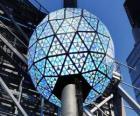 La bola del Año Nuevo, Times Square, Manhattan, Nueva York