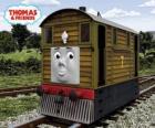 Toby es la locomotora marrón nº 7