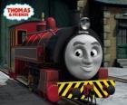 Victor es el jefe de los talleres ferroviarios de Sodor