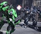 Lucha entre dos Transformers
