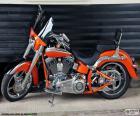 Harley Davidson naranja
